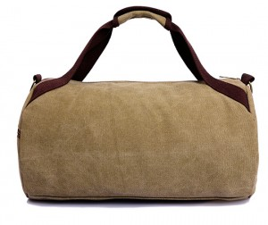 Casual canvas duffle bag